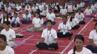 International Day of Yoga Celebrations from Art of Living International Center, Bangalore