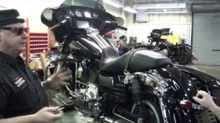 How to change your old style Harley Davidson saddlebag pin to the new screw style.