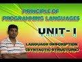 L3: Programming Language Description|Syntactic Structure|Semantics BNF CFG University Academy