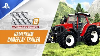 Farming Simulator 19 | Alpine Farming Expansion - Gamescom Gameplay Trailer | PS4