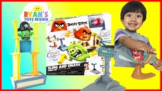 Angry Birds Sling and Smash Track Set Red and Chuck