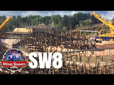 Alton Towers SW8 Construction Update - 24th August 2017
