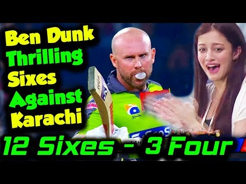 Karachi Kings vs Lahore Qalandars   Ben Dunk Sixes Against Karachi   PSL 2020