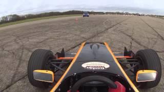 Driving Formula Renault 2.0 car