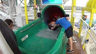 Strange Slideboarding Water Slide at World Waterpark
