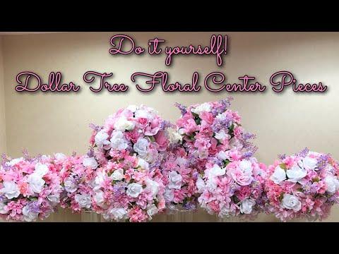 Dollar Tree 18in Floral Centerpieces DIY