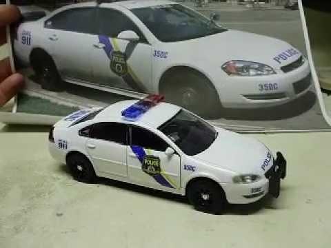 Custom 1 32 Scale Diecast Philadelphia Police Chevy Impala