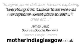 Glasgow Restaurants - REVIEWS - Mother India