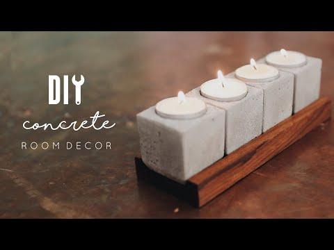 Easy DIY Concrete Room Decor