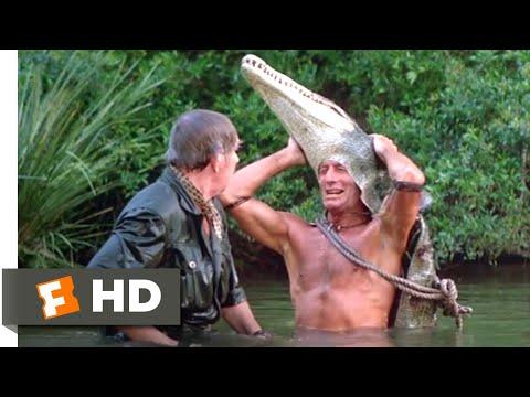 Crocodile Dundee II (1988) - Crocodile Attack Scene (8/10) | Movieclips