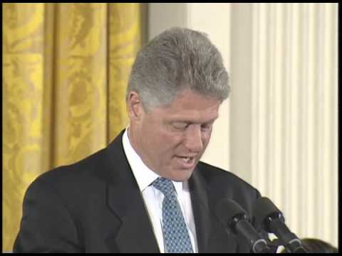 President Clinton at the Presidential Medal of Freedom Ceremony