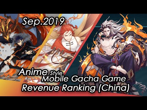 (Mainland, China) September 2019 Anime Gacha Mobile Game TOP 30 Revenue Tier List IOS ONLY