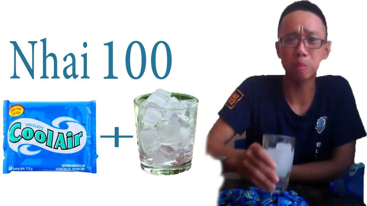 Download HAICHIT - Ăn 100 viên kẹo singum cool air và uống 2 lít nước đá PHÊ NHƯ HÚT LÁ ĐU ĐỦ