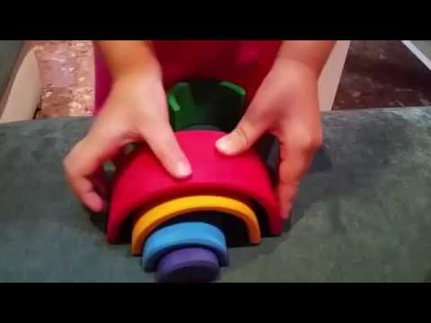 Arcoiris Grimm Arcoiris De Waldorf Montessori Bloques Madera