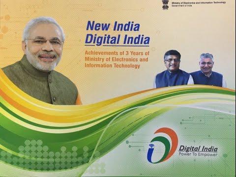 3-Years Achievements of MEITY and Digital India by Shri Ravi Shankar Prasad