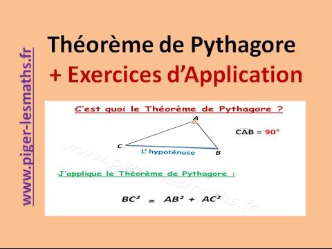 Théorème de Pythagore | Rappels sur l' angle droit et l' hypoténuse | 4ème 3ème | Piger-lesmaths ...