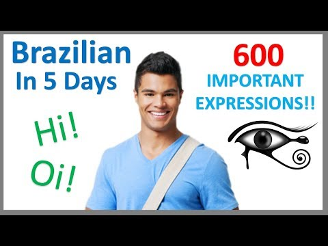 Learn Brazilian Portuguese in 5 days- Conversation for Beginners