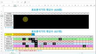 로또분석가의 예상수 ----- 828회 (진짜최종^^)