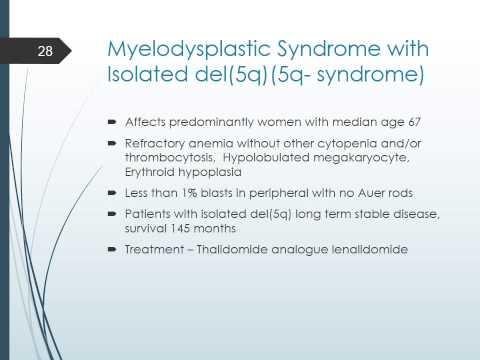 myelodysplastic syndrome 2015
