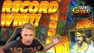RECORD WIN!! Tahiti Gold BIG WIN - Epic Win on Online Slot from Casinodady