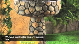 12841 - Wishing Well Solar Water Fountain