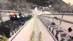 Aus Sicht eines Skispringers: Mit Helmkamera die Schanze hinunter