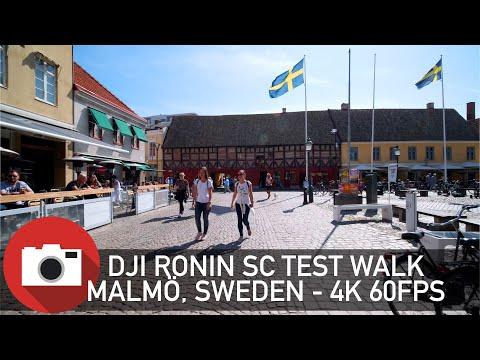 Walking In Malmö, Sweden - DJI Ronin SC Test Walk - 4K 60 FPS