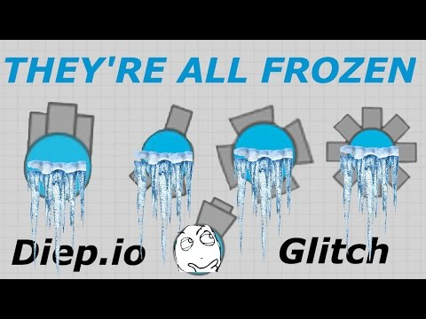 CRAZY DIEP.IO GLITCH!! // EVERYONE'S FROZEN // Diep.io Hack!?