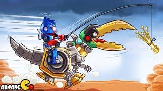 Angry Birds Transformers: Unlocked Gold Bite Grimlock Max Level JENGA Gameplay Part 85