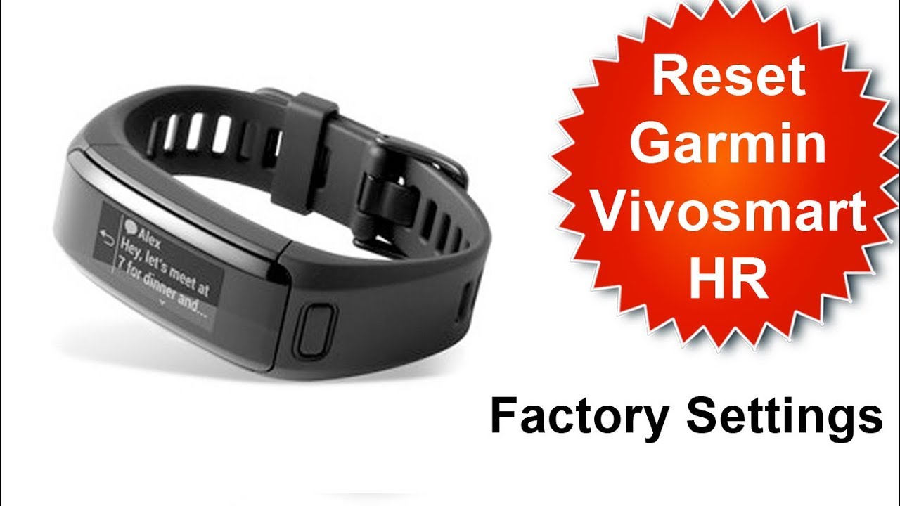 How To Factory Reset Vivoactive smart hr- Default Settings