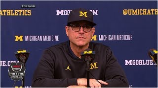 Jim Harbaugh gets testy with reporter after Michigan's loss to Ohio State | College Football on ESPN