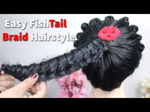 new-easy-twisted-edge-fishtail-hairstyle-2020-|-easy-ponytail-braid-hairstyle-|-braid-tutorials