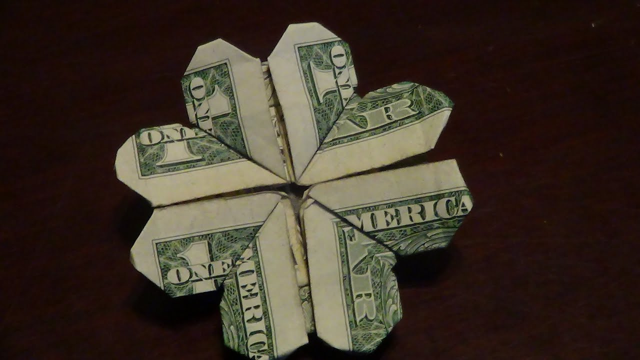 Dollar origami shamrock tutorial how to make a dollar origami dollar origami shamrock tutorial how to make a dollar origami shamrock youtube jeuxipadfo Image collections