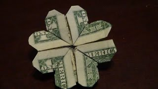 Dollar Origami Shamrock Tutorial - How to make a Dollar Origami Shamrock