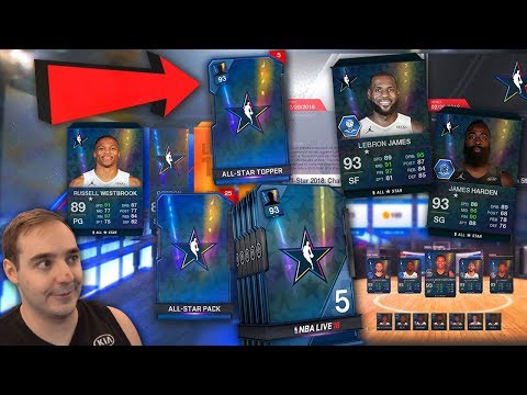 NBA Live 18 Ultimate Team ALL STAR WEEKEND PROMO! TONS OF PACKS AND FREE PLAYERS! WOW!!!