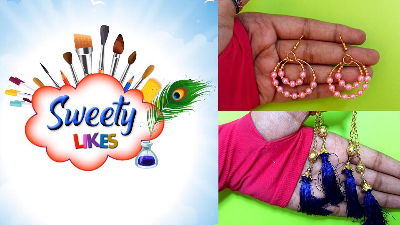 #Girlyfashion ll #Pearlearring ll DIYEarrings ll Handmade Fashion Earrings ll Sweety Likes