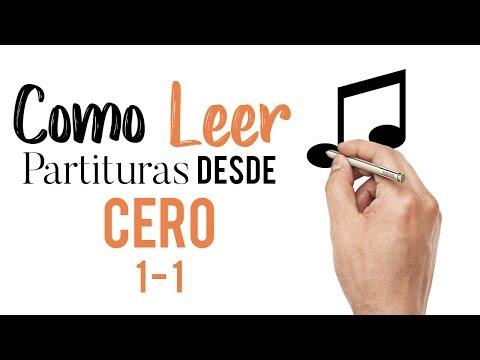 COMO LEER PARTITURAS DESDE CEROS / Curso COMPLETO 1 - 1 Ejercicios sencillos