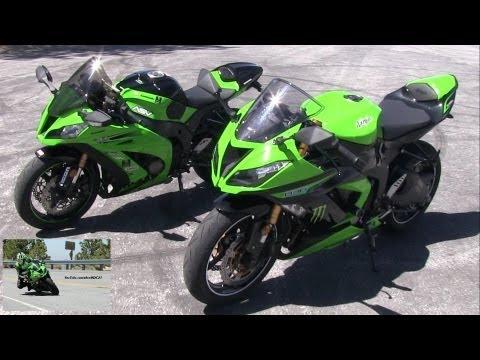 2013 Kawasaki Ninja 636 Zx6r Ninja Zx10r Side By Side Comparison
