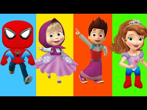 Thumbnail: Wrong Legs Bad Baby Paw Patrol Spiderman Masha Sofia The First - Finger Family Song Nursery Rhyme