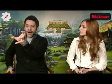 Kung Fu Panda 3 : rencontre avec Manu Payet et Alison Wheeler, les voix françaises du film (INTERVIE