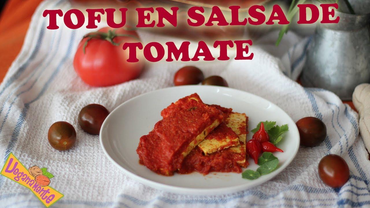 Oven Tofu With Tomato Vegan Recipes Veganamente