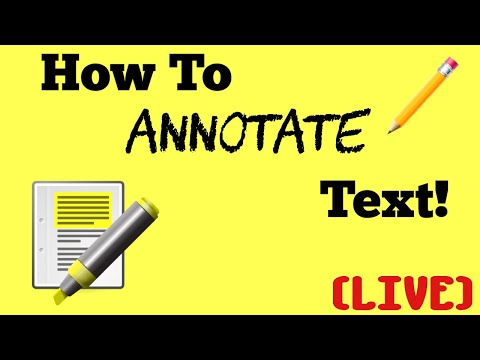 HOW TO ANNOTATE TEXT! (Live) | Grade 6 | English & Language Arts