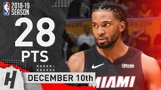 Justise Winslow Full Highlights Heat vs Lakers 2018.12.10 - 28 Pts, 7 Ast off the Bench