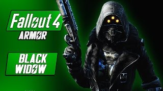 BLACK WIDOW Armor + Pip Boy Skin - Fallout 4 Armor Mods - Underworld Game Mode! - Fallout 4 Mods