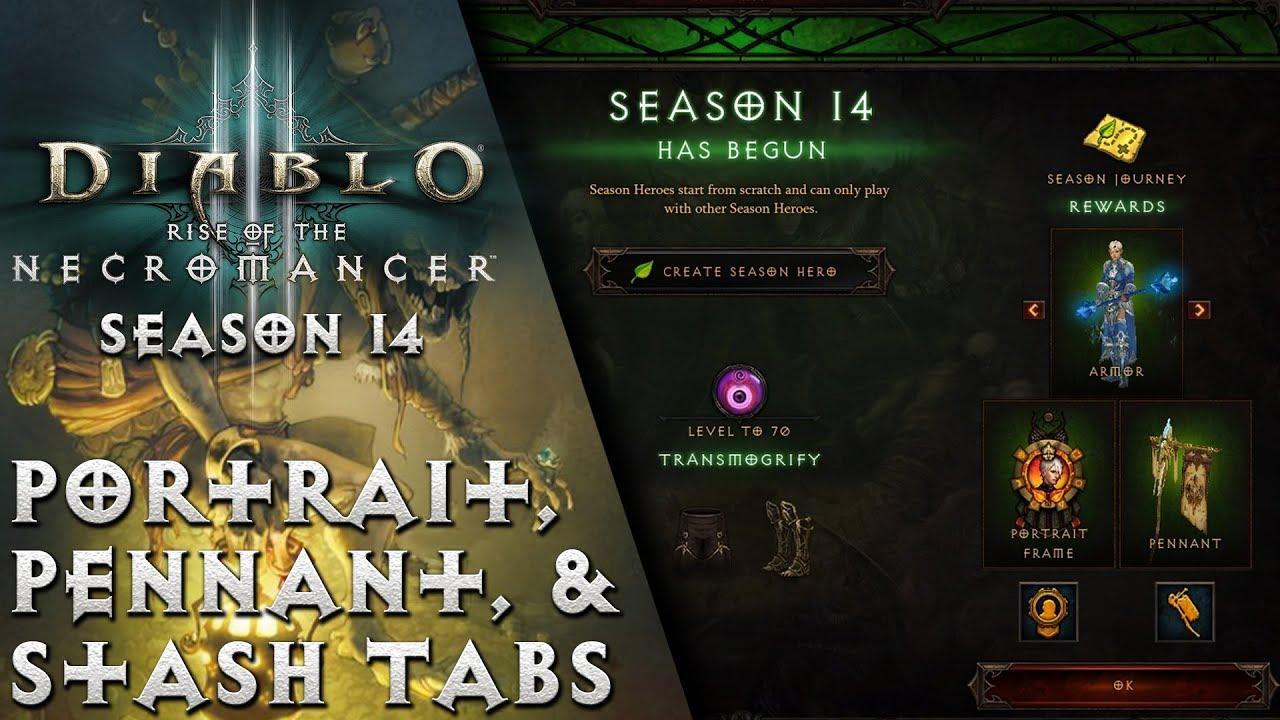 Diablo 3 - Season 14 Guide - Portrait, Pennant, & Stash Tabs