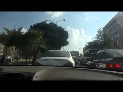 Driving through Amman
