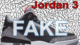 Best Quality Fake Air Joran Retro 3 Black Cement UA A+ Review From China