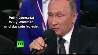 wundervoll ! Willy Wimmer wird von Wladimir Putin persönlich übersetzt 07.04.2016 - Bananenrepublik