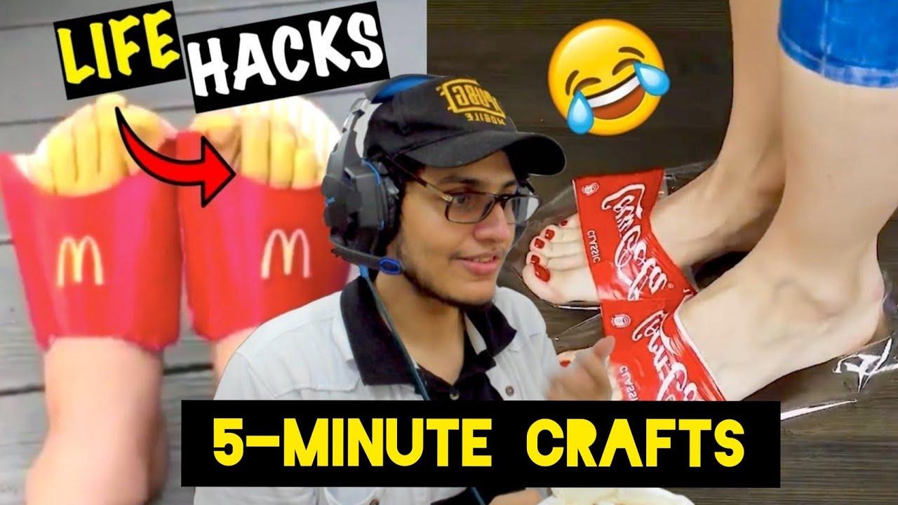 Dumbest 5-Minute Crafts Life Hacks Ever!!