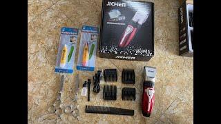 Trọn bộ sản phẩm tông đơ cắt tóc tại nhà JICHEN - 0817,, ae ủng hộ mùa dịch